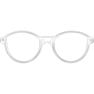 Brille - gezeichnet
