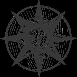 Kompass -gezeichnet - Retro -Seefahrt