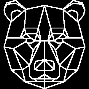 Bär Geometrisch weiss