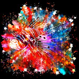 gxp feuerfisch wasserfarbe spritzer