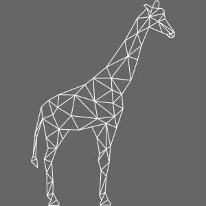 Giraffe Geometrisch weiss