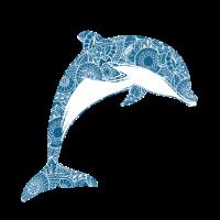 Delfin im Mandala style