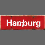HAMBURG Har/m/burg | Ortsschild