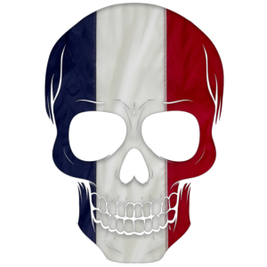 Totenkopf Frankreich Flagge