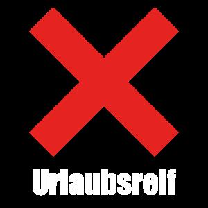 urlaubsreif, k.o., lustiges T-shirt