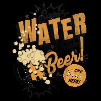 Sparen Sie Wasser trinken Bier