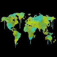Weltkarte Aquarell