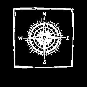 Kompass - Skizze - Zeichnung - Himmelsrichtungen