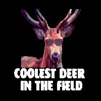 coolest deer in the field Hirsch Geweih Geschenk