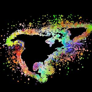 Nardamerika Landkarte