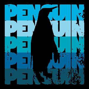 Kaiserpinguin - Cooler Grunge Text mit Schatten