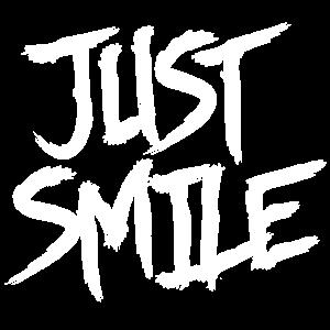 Just Smile Shriftzug Shirt
