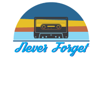 NEVER FORGET T-Shirt Retro Tape