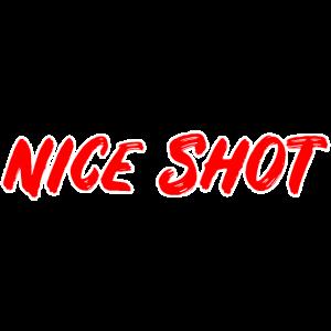 Ego Shooter Spruch: Netter Schuss