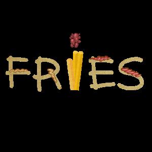 Pommes Fritten Fast Food Geschenk Idee