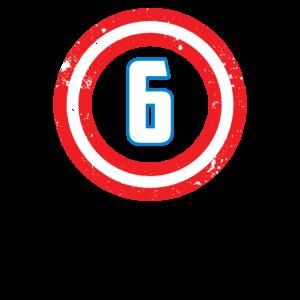 Geburtstags-Jungen-Superheld-Party 6 sechs 6. Geschenk-Idee