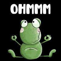 Ohmmm Frosch - Frösche - Kröte - Yoga - Fitness