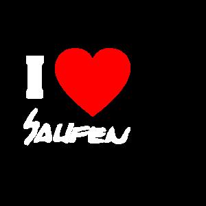 IloveSaufen - Tshirt --Geschenkidee