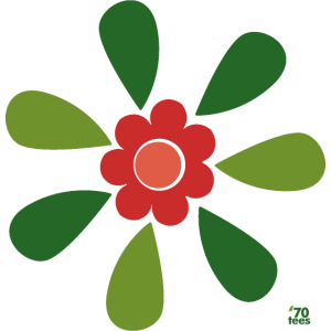 redgreen 70s flower