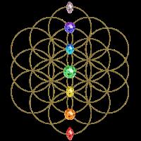 Blume des Lebens - Chakren - Flower of Life - Symbol der Vollkommenheit und Harmonie