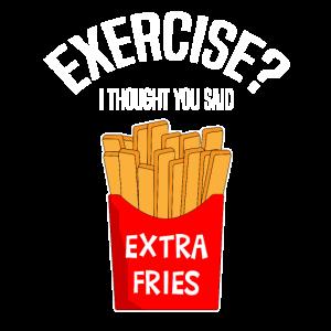 Extra Fries Pommes Fritten Geschenk Idee