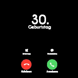 30. Geburtstag Phone Call Anruf
