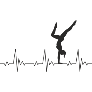 Calisthenics Heartbeat Handstand Frau Frequenz EKG