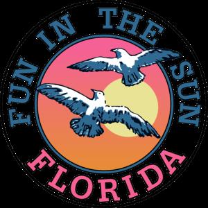 Spaß in der Sun-Florida-Strandgraphik