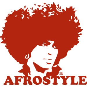 afro american silhouette red