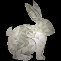 poly design Hase Dreieck poly art grafik design 3D