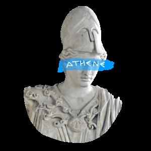 Athene + Schriftzug weiß