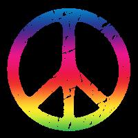 Peacezeichen Regenbogenfarben