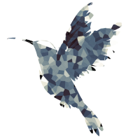 Polygon Kolibri Vogel