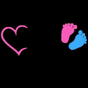 Bald Mama Baby Schwangerschaft Geburt Herz Mutter