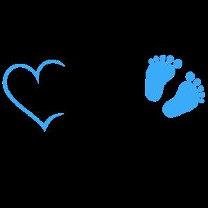 Bald Mama Baby Schwangerschaft Geburt Herz Junge
