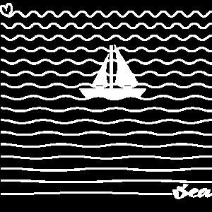 Segeln Segler Meer Wellen Segelboot Geschenk