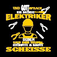 Elektriker Shirt · Zange Helm · Gott Geschenk