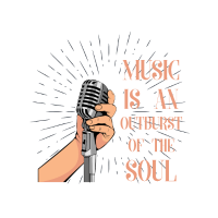 Musik Mikrophon Ausbruch Seele lustig Spruch
