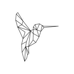 Vogel Kolibri Geometrisch