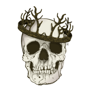 Gekrönter Schädel