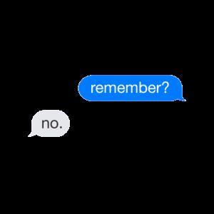 Remember? No. Chatverlauf Chat Geschenk