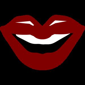 Kuss Roter Mund Lippen Lachender Mund Lächeln