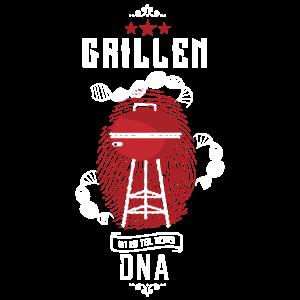Grill Shirt · Holzkohlegrill · DNA Geschenk