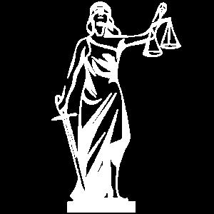 JUSTITIA - Juristen T shirt / Taschen