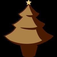 Individueller Weihnachtsbaum - Vektor