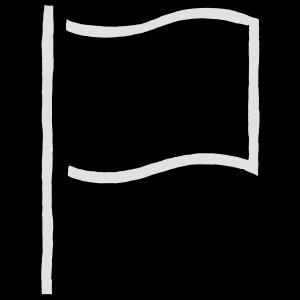 Diverses - Flagge leer - sw