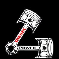 DieselPower Shirt Diesel Kolben Brother Power