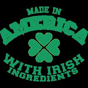 Made in America Irish Ingredients Motiv