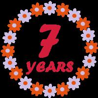Siebten Geburtstag