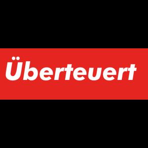 logo Ueberteuert Parodie